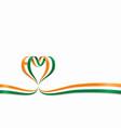 niger flag heart-shaped ribbon vector image