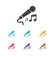 of music symbol on microphone vector image