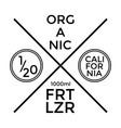 organic fertilizer label and badge design vector image