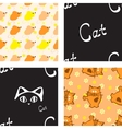 Pattern with cat and mouse vector image vector image