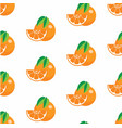 pattern with oranges vector image vector image