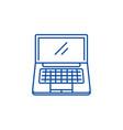 portable computer line icon concept portable vector image vector image
