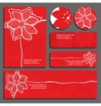 red invitations and flyers vector image vector image