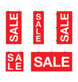 red sale set sign vector image vector image