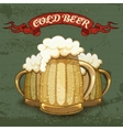 Retro style poster for Cold Beer vector image