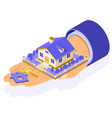 sale purchase rent mortgage house isometric vector image vector image