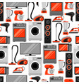 seamless pattern with home appliances household vector image vector image