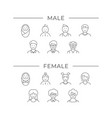 set line icons people age vector image vector image