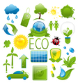 Set of green ecology icons 2 vector image vector image