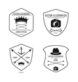 Set of label icon Hipster style design vector image
