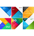 set of material design abstract templates vector image vector image