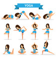 set of yoga positions design vector image vector image
