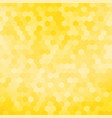 simple yellow hexagon background vector image vector image