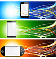 Smartphone banners vector image vector image