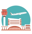The of Airport Terminal vector image vector image