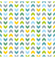 tile pattern with blue and green zig zag print vector image vector image