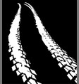 tire track road vector image vector image