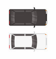 top view two hatchback car vector image