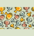 trophy cup seamless pattern background business vector image vector image
