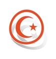 Turkey symbol sign sticker orange vector image vector image