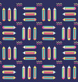 vibrant seamless pattern with pencils in memphis vector image vector image