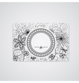 visiting card vector image