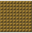 wall with ochre yellow pyramid tiles pattern vector image vector image