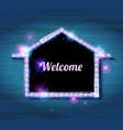 welcome banner glowing arrow vector image