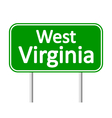 West Virginia green road sign vector image