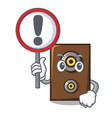 with sign speaker character cartoon style vector image