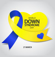 world down syndrome day vector image vector image