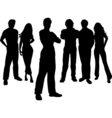 young people vector image vector image