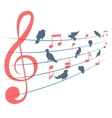 Abstract background with music notes and vector image