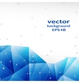 Blue crystal abstract pattern Business Design vector image