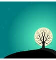 Tree on a background of the moon vector image