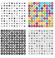 100 playground icons set variant vector image vector image