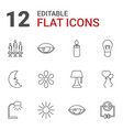 12 light icons vector image vector image