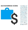 Accounting Icon with Flat Set vector image vector image