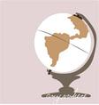 Anywhere Globe vector image vector image