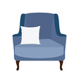 Armchair with white pillow vector image