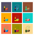 assembly flat fireworks champagne gift vector image vector image