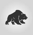 bear silhouette grizzly bear cut out icon vector image