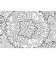 beautiful coloring book page with floral pattern vector image vector image