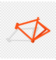 bicycle frame isometric icon vector image vector image