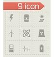 black energetics icon set vector image vector image