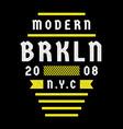 brooklyn retro print vector image vector image