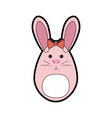 bunny ribbon animal vector image