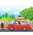 Cartoon Roadtrip Car
