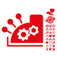 cash register icon with lovely bonus vector image