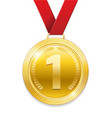 champion award gold medal for sport prize shiny vector image